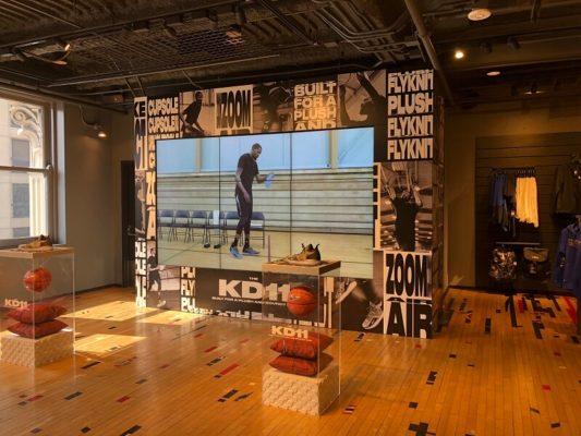 3x3 46inch monitor video wall Nike